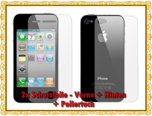 2x Schutzfolien Set für iPhone 4 Full Body inkl. Versandkosten