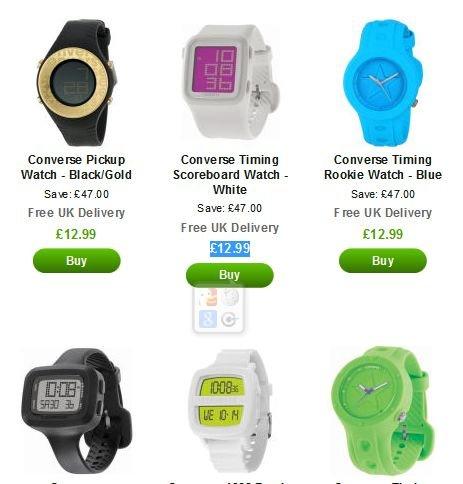 Converse Uhren zwischen 15,40€ und 17,75€ inkl. Versand (Vergleich 40-50€)