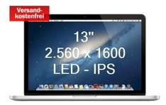 MediaMarkt MacBook Pro Retina 13'' i5 2,6-3,2 Ghz 256GB SSD - 8GB DDR3 1249€ vgl. 1428€