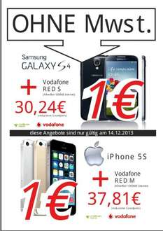 Iphone 5s oder Galaxy S4 Allnet Flat Media Markt Main Taunus Zentrum