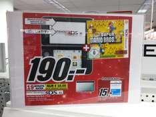 Offline Köln: Nintendo 3DSXL mit  New Super Maroo Bros 2 190 Euro