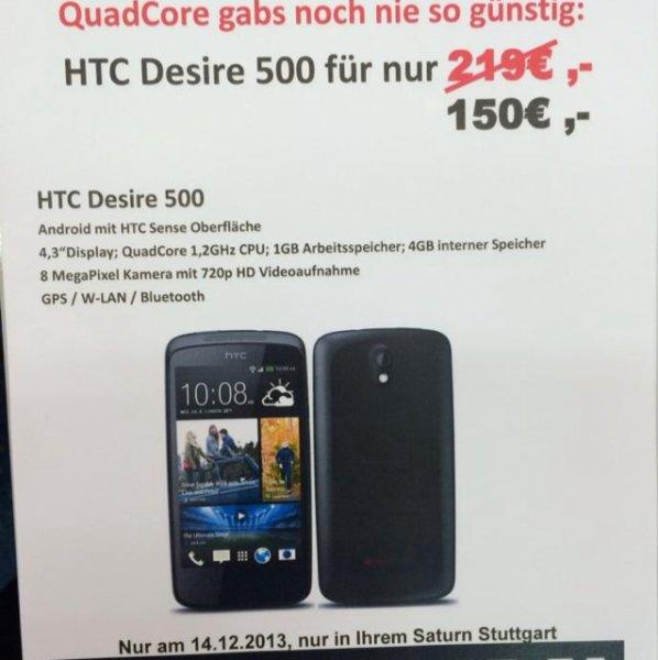 Htc desire 500 für 150€, lokal, saturn stuttgart