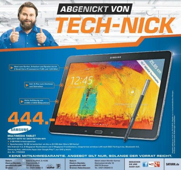 Samsung Galaxy Note 10.1 2014 edition WiFi 444€ [Saturn Bremen]