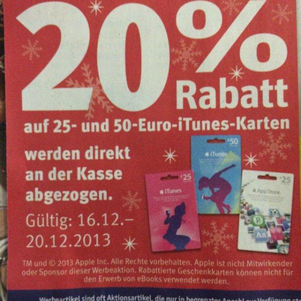 20% auf iTunes Karten bei Rossmann