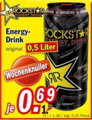[Local Zimmermann Filialen] Rockstar Energydrink 0,5l Dose versch. Sorten  0,69 €
