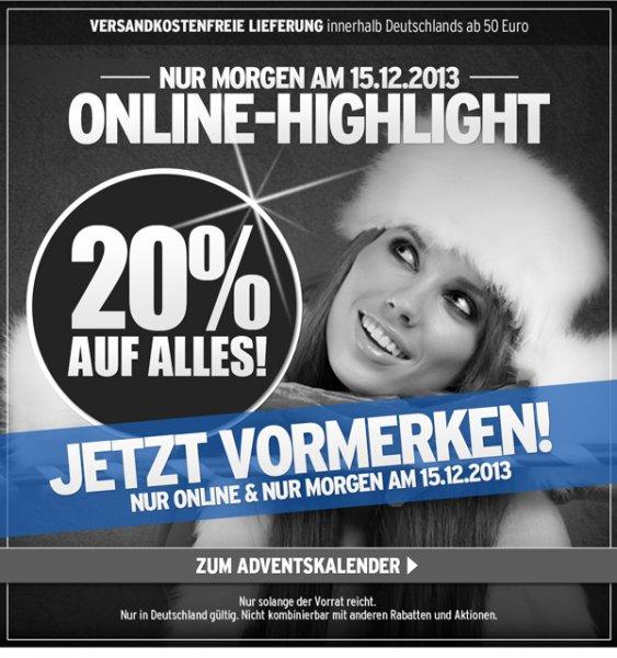 [ATU] 20% auf Alles (nur Online) am Sonntag