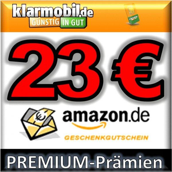 WIEDER DA: KLARMOBIL Handy-Spar-Tarif + 23,00 EURO AMAZON Gutschein kostenlos