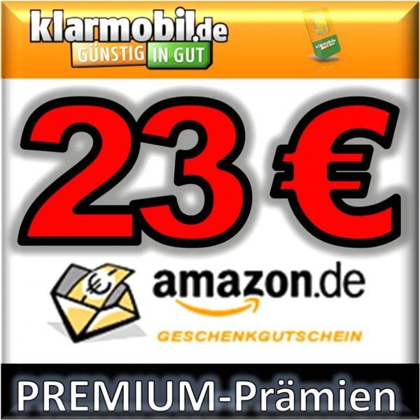 klarmobil SIM-Karte + 23,00€ AMAZON Gutschein kostenlos (sogar 28,00€) möglich