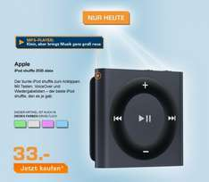 Apple iPod shuffle 2GB Slate (4. Gen) 33€ @ Saturn Super Sunday