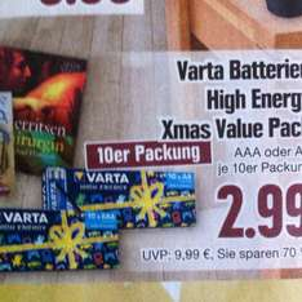[Lokal?] Edeka Dresden Varta High Energy 10x AAA oder AA mit Coupies 1,99€