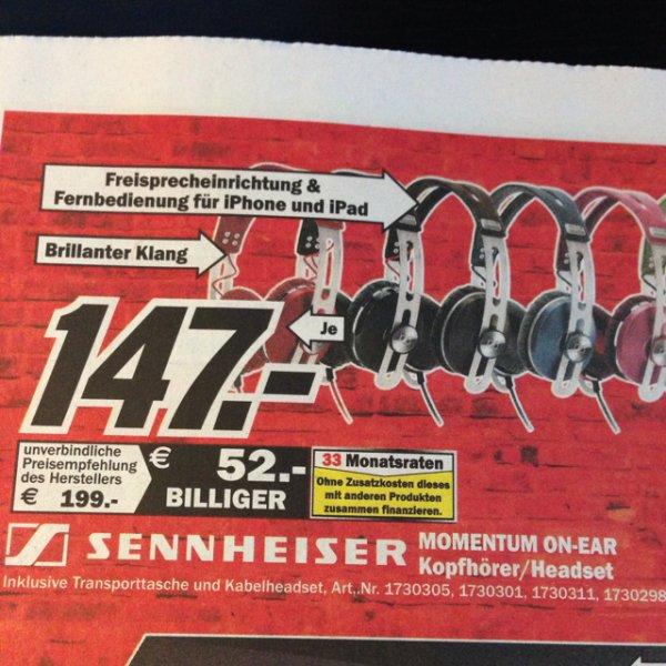Lokal MM Mönchengladbach Sennheiser Momentum On-Ear Kopfhörer in 7 Farben