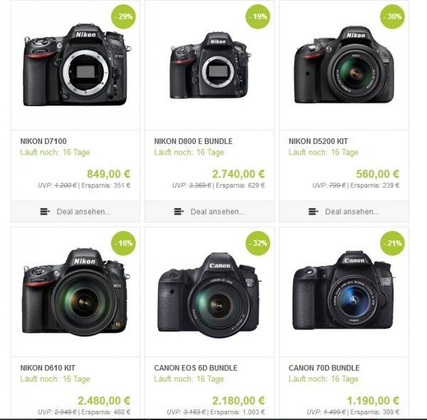 Nikon / Canon / Sony u.a. Kameras bei Onkel Zoom [-15 € Extra-Rabatt heute]