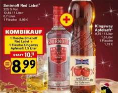 [Netto] Smirnoff Red Label 0,7L + Kingsway Apfelsaft 1,5L
