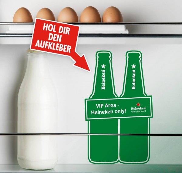 Heineken Kühlschrank Aufkleber