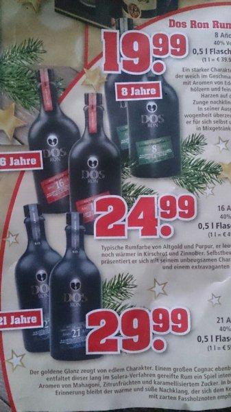 [OFFLINE] Dos Ron Rum 0,5l 8j 16j und 21j solera ab 19,99 bei trinkgut
