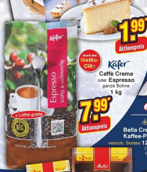 [Offline] 1 Kg Feinkost Käfer  Bohnenkaffee inkl. Löffel