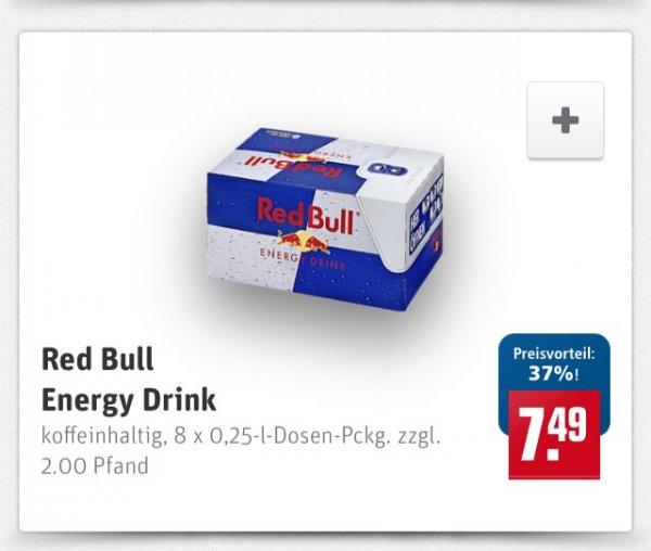 8 Red Bull bei Rewe für 7,49