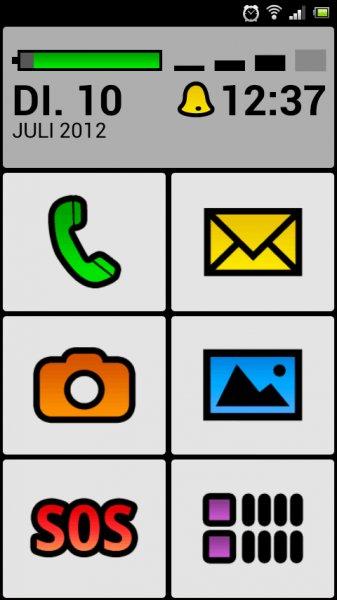 Android: BIG Launcher gratis (für alte Leute und so), statt 8 Eur