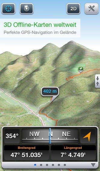 """Navi-App """"Maps 3D"""" für iPhone derzeit 70% reduziert"""
