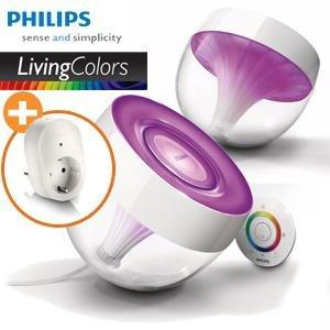 [Conrad.de]Philips LivingColors Iris Clear + LivingWhites Leuchten Adapter + 8 Freiklicks; durch 10€ GS nur 64,95