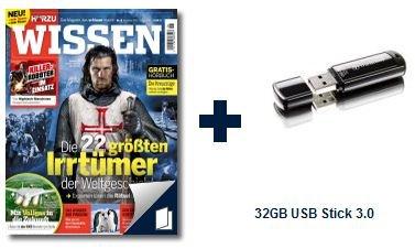3x Hörzu Wissen + 32GB Transcend USB 3.0 Stick für 7 EUR