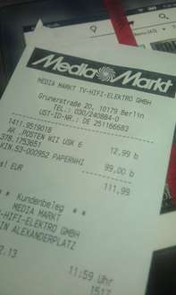 [Lokal - Offline] Kindle Paperwhite bei MM im Alexa Berlin für 99€