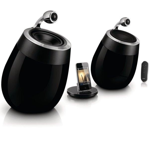 [Amazon.it] Philips Fidelio DS9800W SoundSphere AirPlay Speaker für iPad/iPhone (2x 50 W, AUX, mit Ladestation, WLAN) schwarz inkl. Vsk für 457,18 €