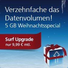 [O2 Kunden] kostenlos Upgrade Surf Paket 300MB auf 1GB + 3 Monate lang 5GB