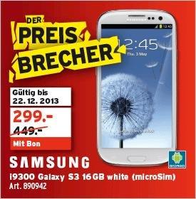 Schweiz: SAMSUNG Galaxy S III I9300 16GB Marble White 299CHF (245€)