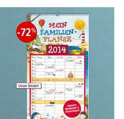 WELTBILD Familienplaner 2014, inkl. Wandplaner+ Stickerbogen 1,99