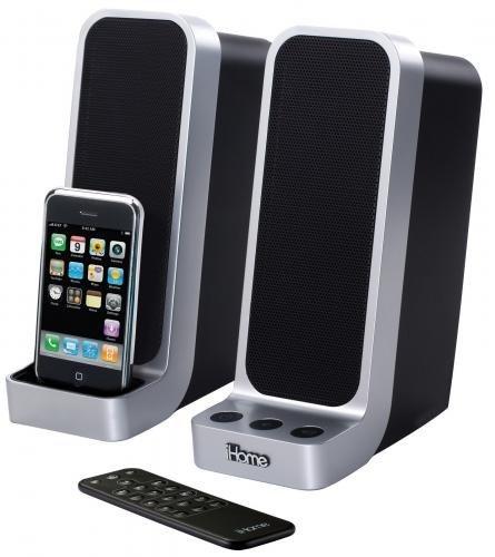 iHome iP71 - Lautsprecherset mit integrierten Iphone / Ipod-Dock und FB