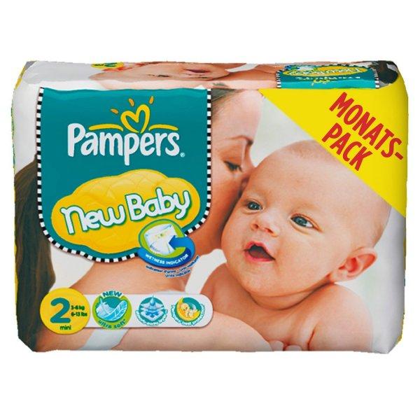 [Amazon Family] Pampers New Baby Gr. 2 , 240 für 34,38 Euro (14 Cent/Stück) alle Anderen 40,83 (17 Cent/Stück)