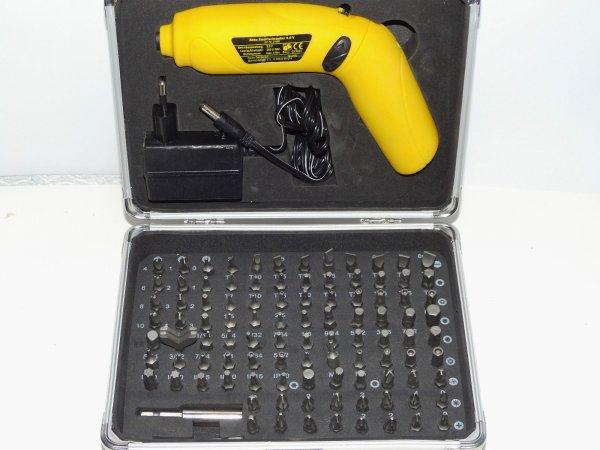 Akku Smart Schrauber Set 3,6V 104-teilig inkl. Spezial Sicherheit Bits