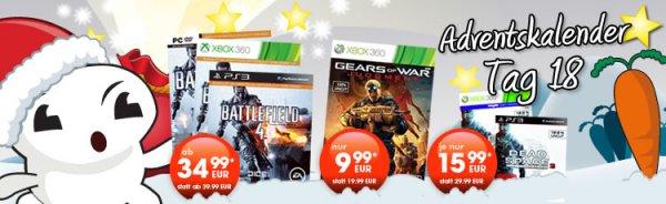 Gamestop online / offline 18. Tag Battlefield 4 ab 34,99 €, Gears of War Judgement Xbox 360 9,99 € & Dead Space 3 Limited Edition 15,99 €