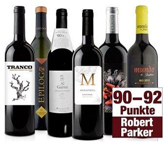 Probierpaket Robert Parker - 6 prämierte Weine für 24,95 Euro
