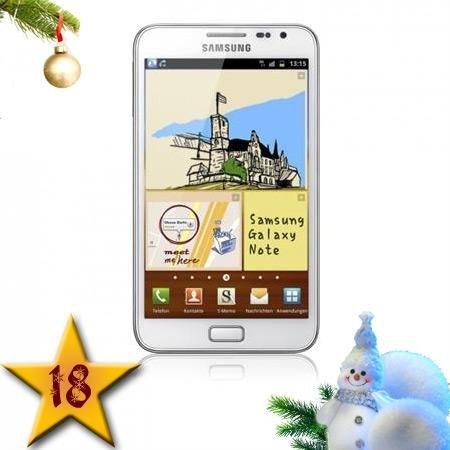 Galaxy Note N 7000  16 GB, Ceramic White, Adventskalender bei talk-point.de