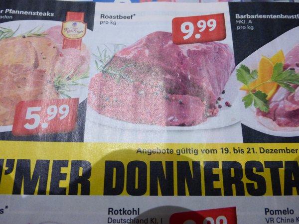 frisches Roastbeef bei Netto mit Hund für 9,99€ ab Donnerstag
