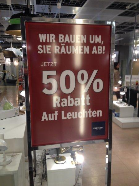 [Rhein-Ruhr-Zentrum Mülheim][Offline] 50% Rabatt auf Leuchten bei Karstadt