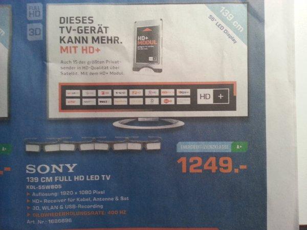 (Lokal ?) Sony LED-TV, KDL-55W805  3D, SimulView, NFC, WLAN, im Saturn Münster