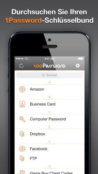 tooPassword – 1Password Reader für iPhone und iPad heute nur 0,89 € statt 2,69 €