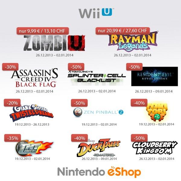 [WiiU eShop] Angebote vom 19.12.2013 - 09.01.2014 (alle aufgeführt)