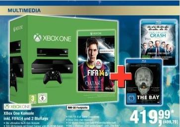 [metro] XBOX One inkl. FIFA 14 + 2 Blu-Rays