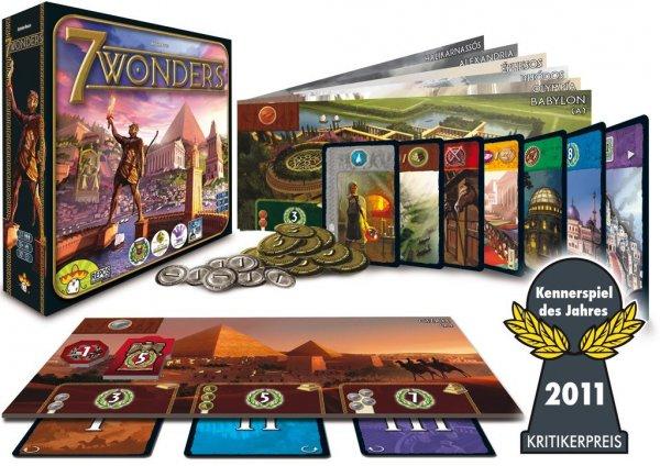 [amazon.de] 7 Wonders - Gesellschaftsspiel - Asmodée Editions 692053 - Kennerspiel des Jahres 2011 (und Kingdom Builder - Spiel des Jahres 2012 @ 9,98 €)