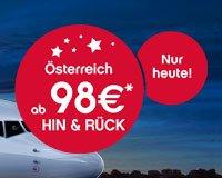 Adventskalendar bei airberlin.com: Österreich HIN & RÜCK 98 €*