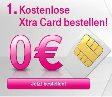 Kostenlose T-Mobile Xtra Card mit 6 Euro Startguthaben und noch 2,50 Euro Cashback @qipu oder für 3 Euro mit 16 Euro Stargtuhaben @Ebay