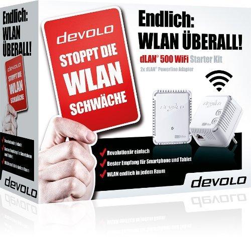 DEVOLO 9083 DLAN 500 WIFI Starter Kit 69€ @ Mediamarkt Adventskalender