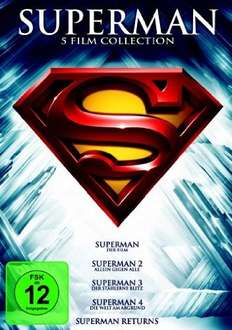 Superman - Die Spielfilm Collection [5 DVDs] für 16€ @Amazon.de
