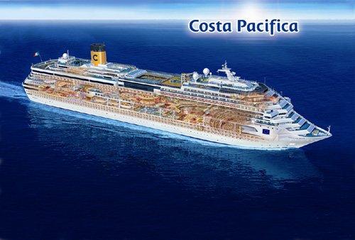 Kreuzfahrt Costa Pacifica z.B. vom 01.02 - 08.02.14 Ab/Bis Savona inkl. Serviceentgelt
