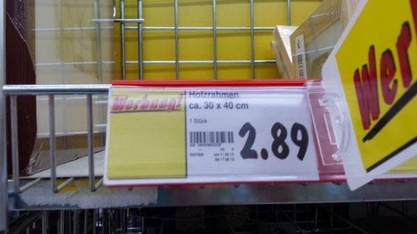 [Lokal?]  Kaufland Holzrahmen 30x40, 20x30 und 13x18 cm für 2,89€