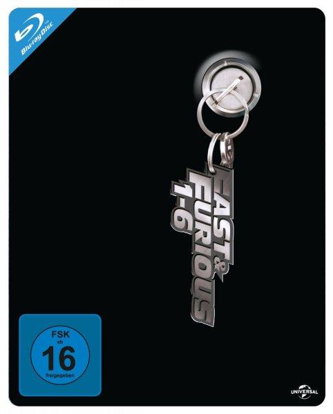 Blu-ray Fast & Furious 1-6 Steelbook Box  (Limitiert und exklusiv bei Amazon)